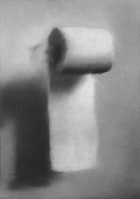 Gerhard Richter Klorolle Toilet Paper 1965 55 cm x 40 cm Oil on canvas