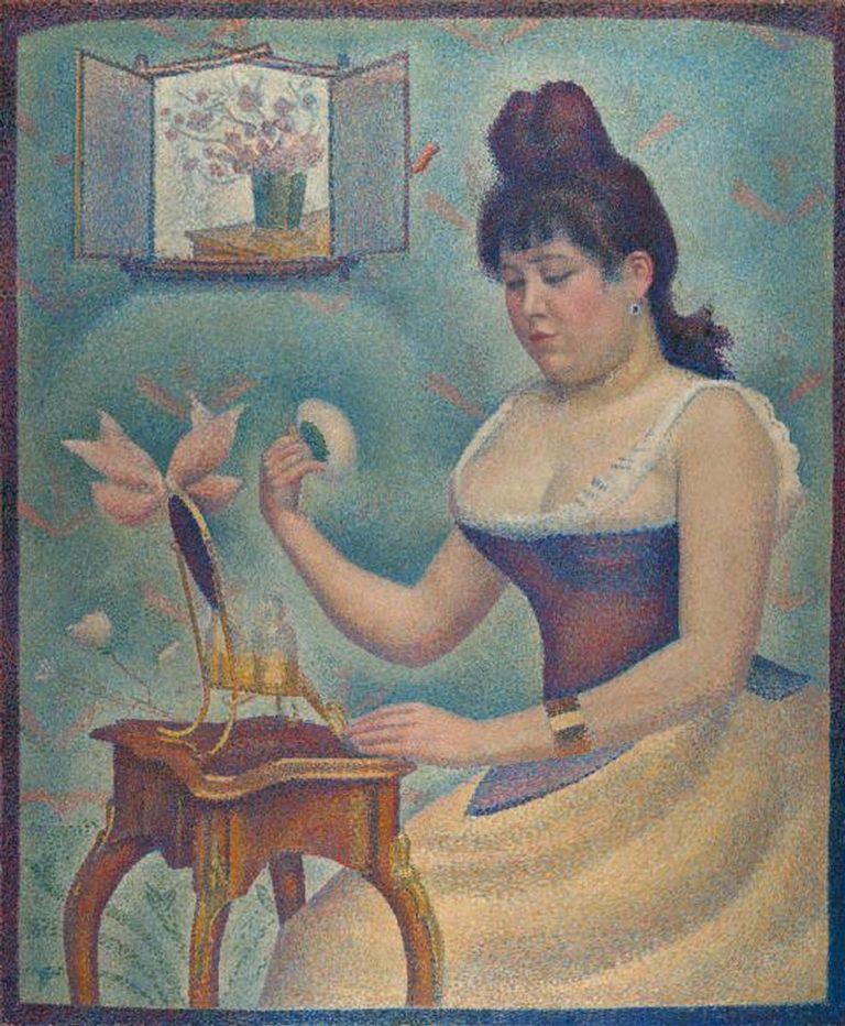 Georges Seurat - 1889-90 - Jeune femme se poudrant - huile sur toile - 95.5 x 79.5 cm