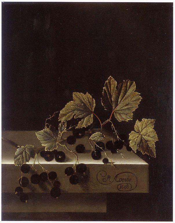 Black Currants   Adriaen Coorte   1698   huile sur papier marouflé sur bois   29,5 x 22,7 cm  