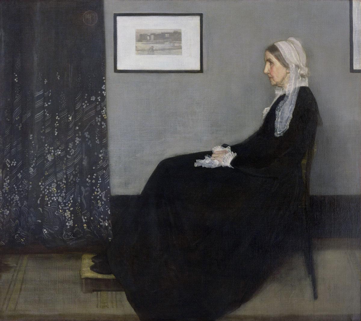 Arrangement en gris et noir n°1   1871   James Abbott McNeill Whistler (1834–1904)   Huile sur toile   144,3 x 162,4cm   Musée d'Orsay