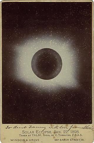 Éclipse solaire 22 janvier 1898