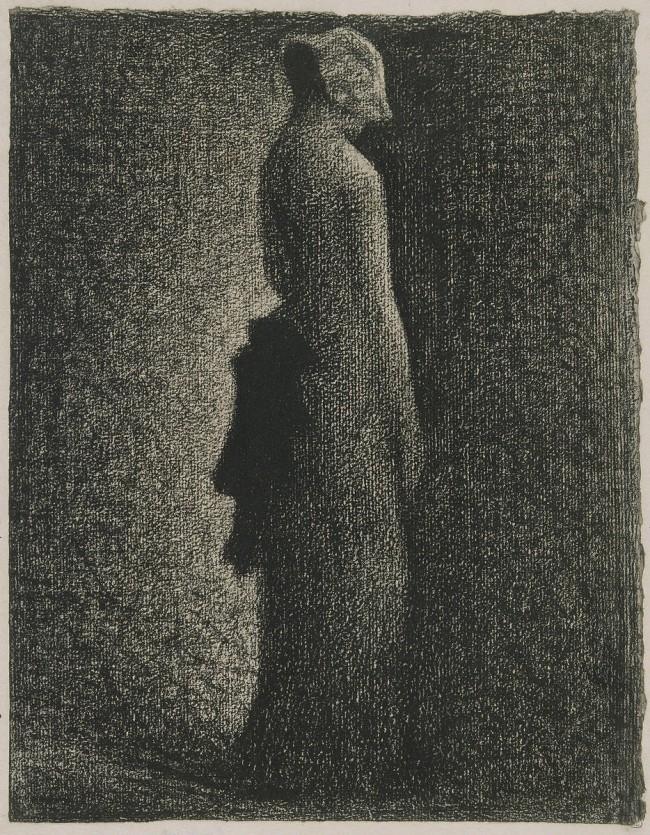 Le noeud noir Georges Seurat - vers 1882 - Crayon Conté sur papier vergé - 31,8 x 25 cm - Musée d'Orsay Paris