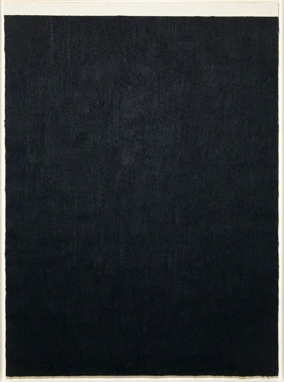 Elevational Weights, Equivalents II   Richard Serra - Paintstick on handmade paper, 279.4 × 203.2 cm, 2011